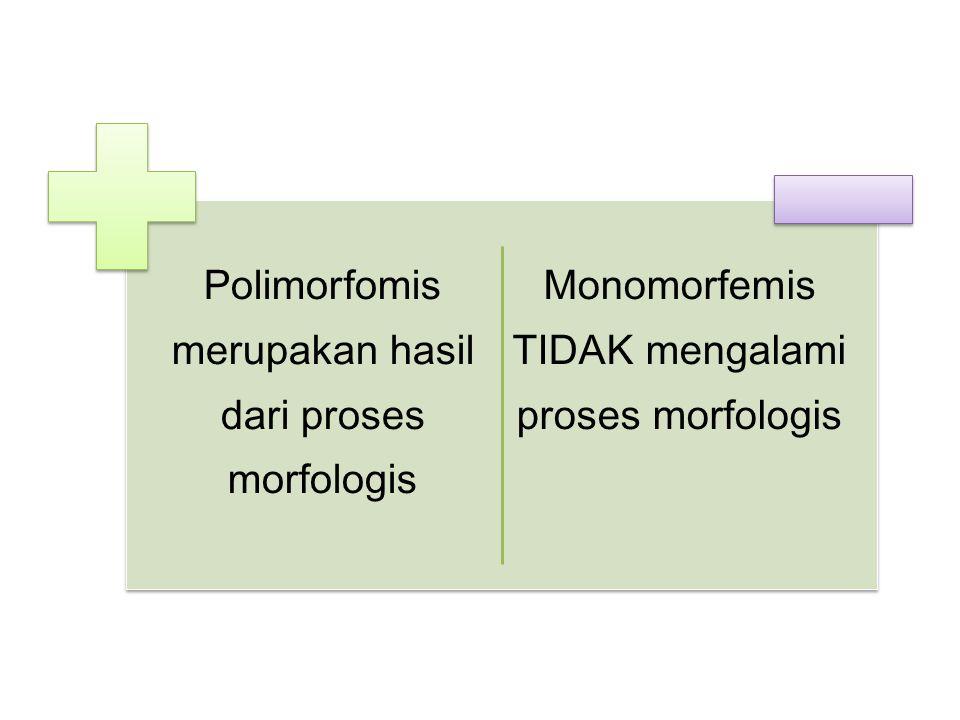 Polimorfomis merupakan hasil dari proses morfologis