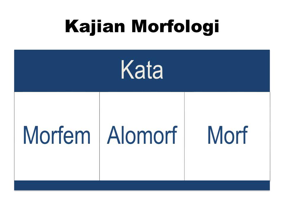 Kajian Morfologi Kata Morfem Alomorf Morf