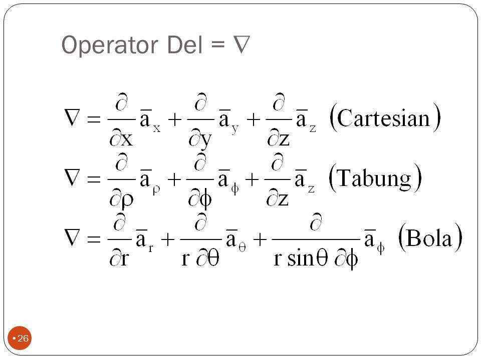 Operator Del = 