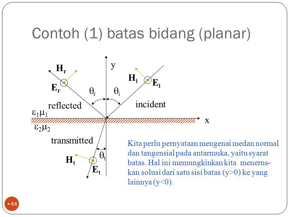 Contoh (1) batas bidang (planar)