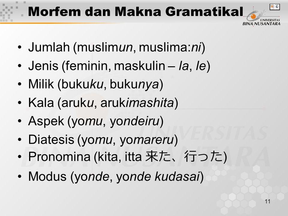 Morfem dan Makna Gramatikal