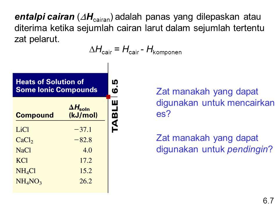DHcair = Hcair - Hkomponen