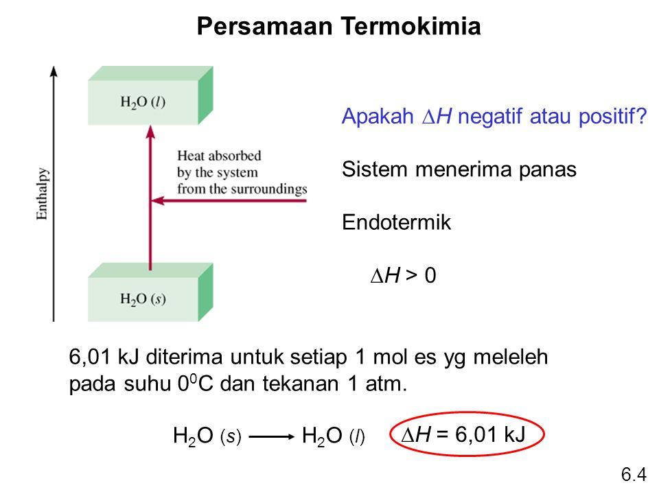 Persamaan Termokimia Apakah DH negatif atau positif
