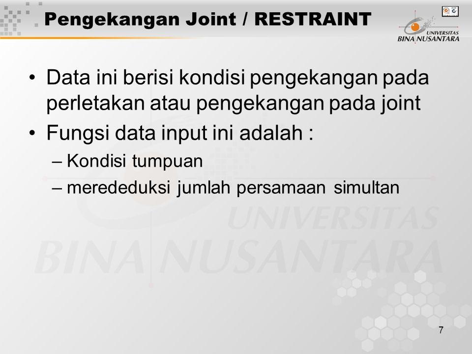 Pengekangan Joint / RESTRAINT