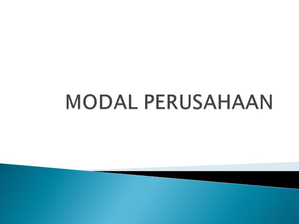 MODAL PERUSAHAAN