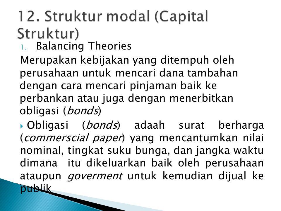 12. Struktur modal (Capital Struktur)
