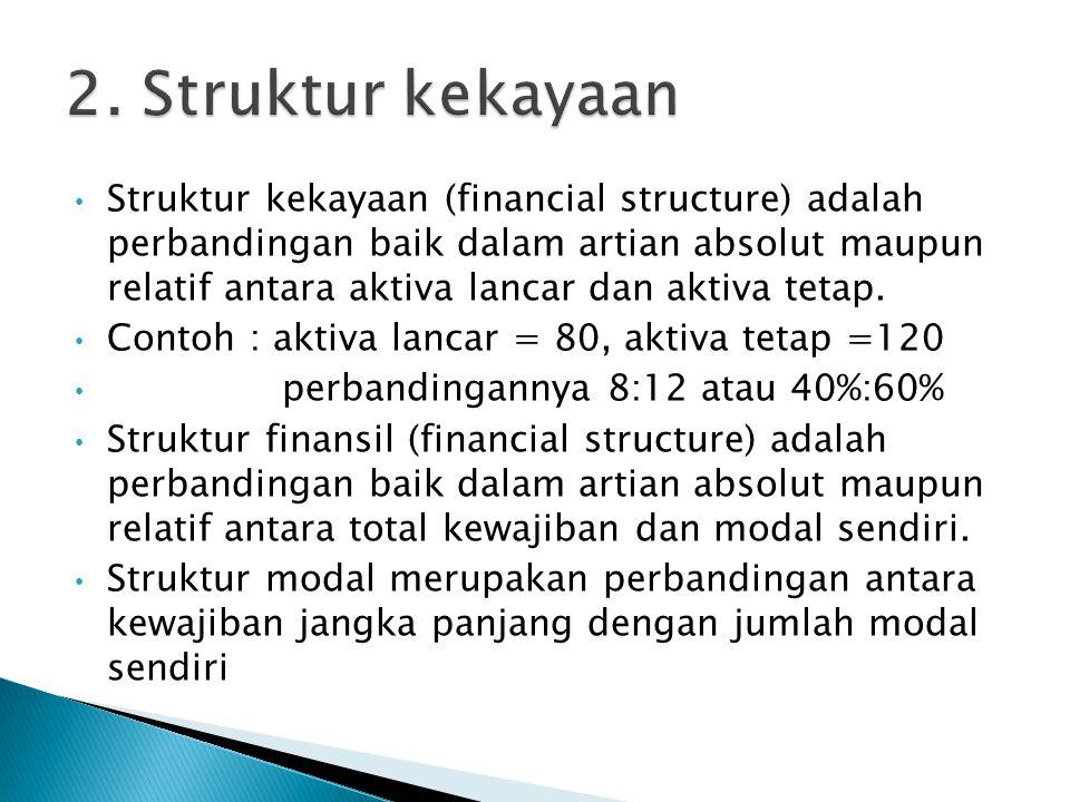 2. Struktur kekayaan