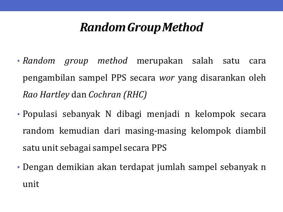 Random Group Method