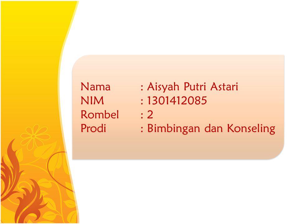 Nama : Aisyah Putri Astari