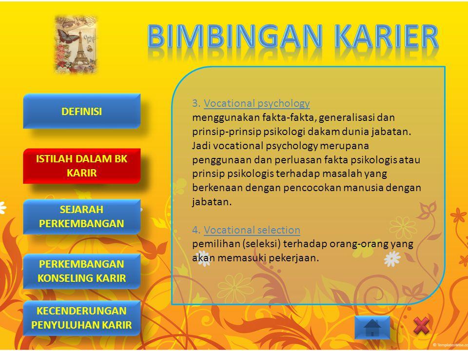 3. Vocational psychology