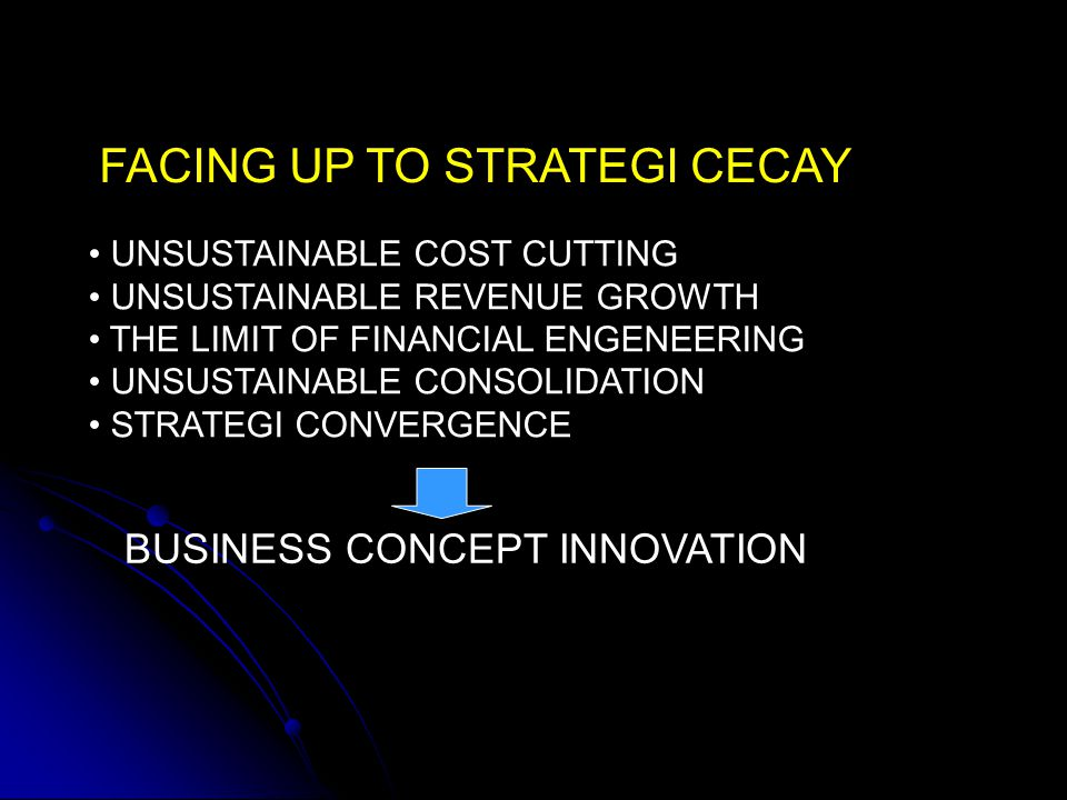 FACING UP TO STRATEGI CECAY