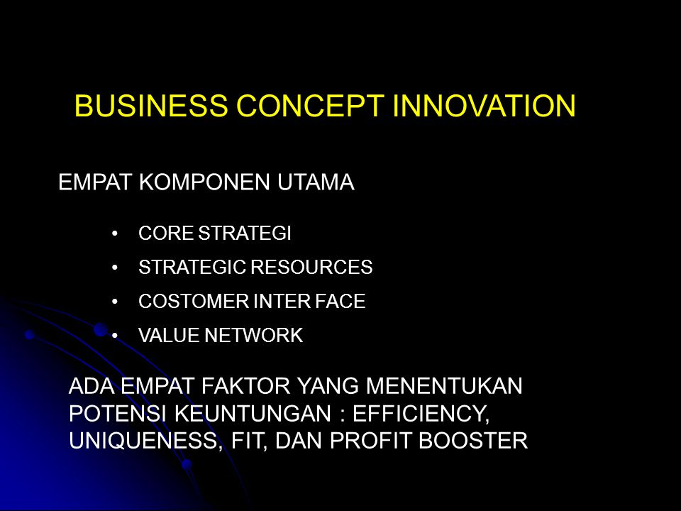 BUSINESS CONCEPT INNOVATION