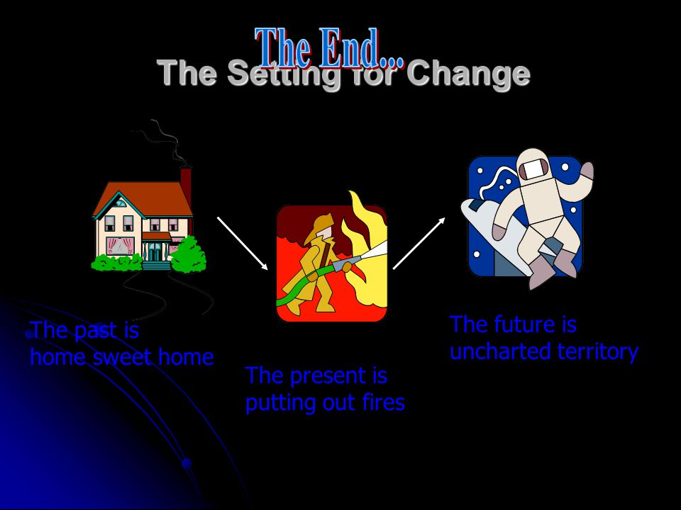 The End... The Setting for Change The future is uncharted territory