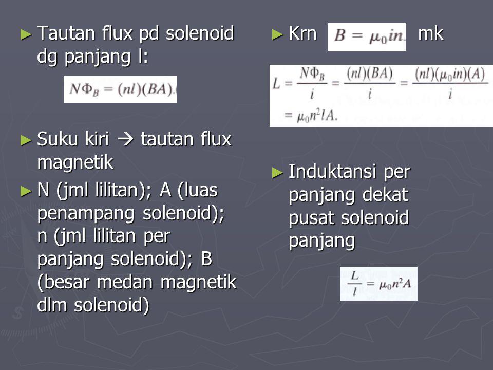 Tautan flux pd solenoid dg panjang l: