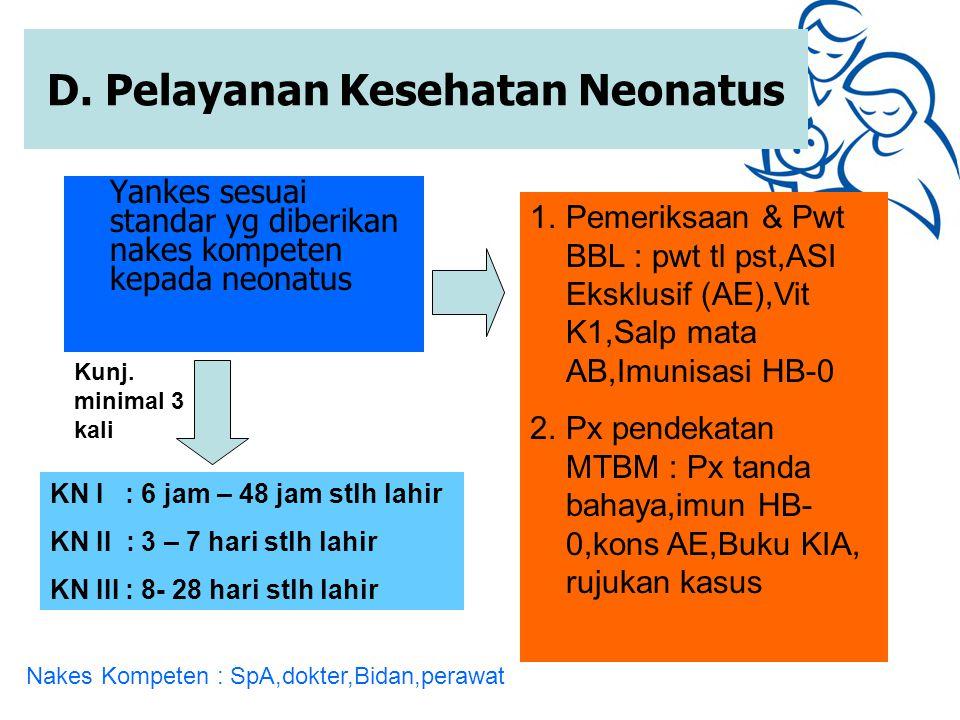 D. Pelayanan Kesehatan Neonatus