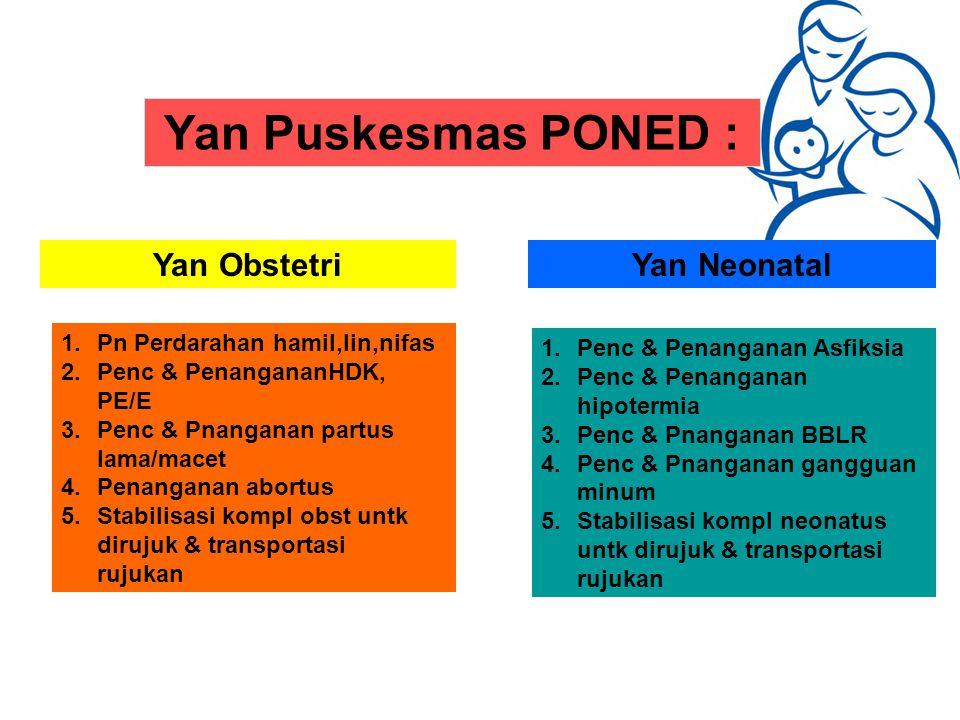Yan Puskesmas PONED : Yan Obstetri Yan Neonatal