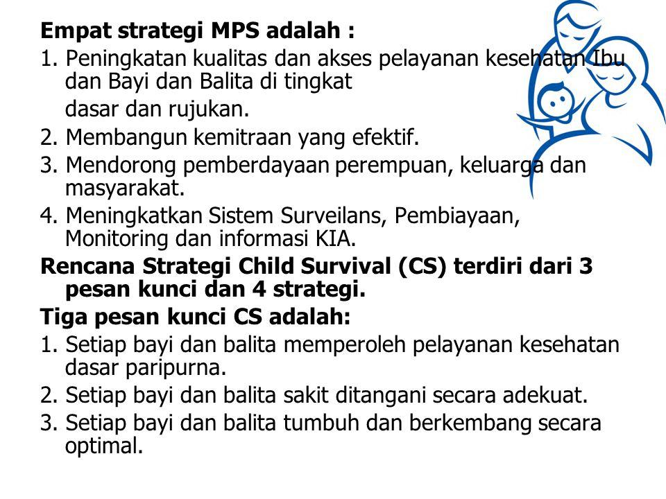 Empat strategi MPS adalah : 1