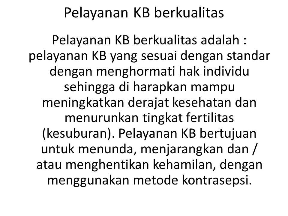 Pelayanan KB berkualitas