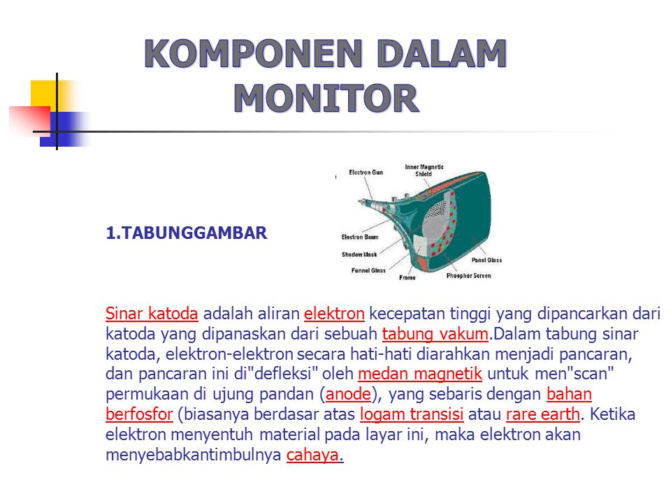 KOMPONEN DALAM MONITOR