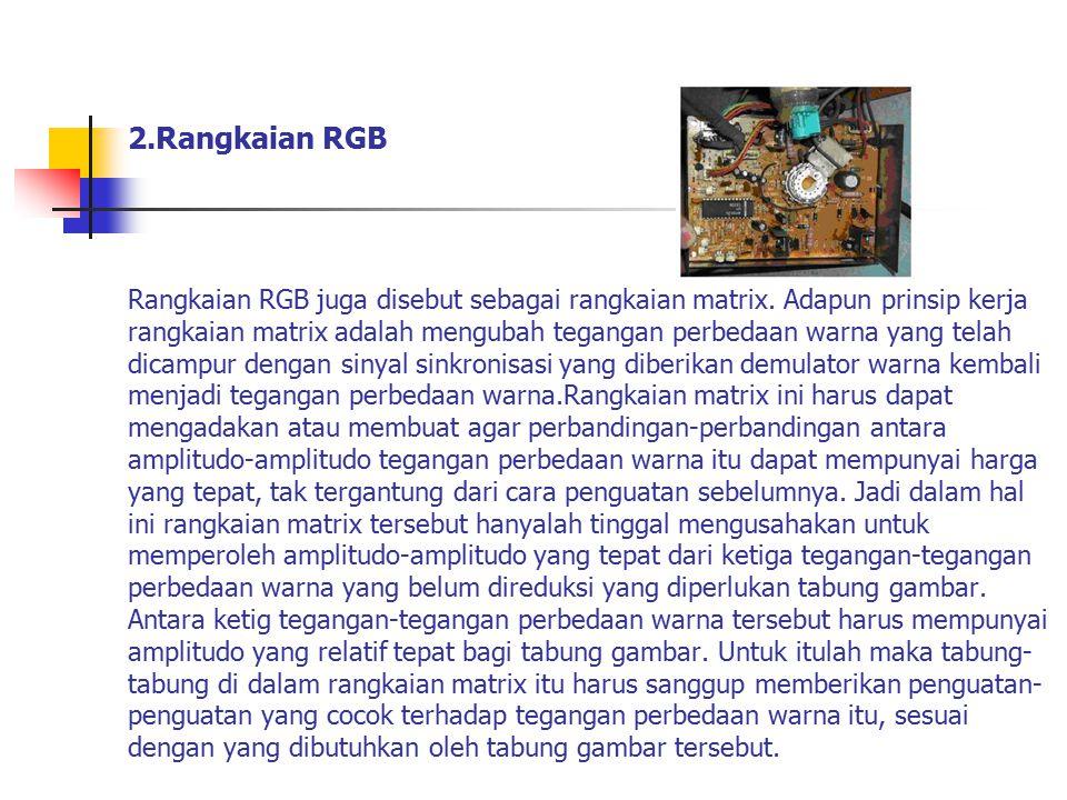 2. Rangkaian RGB Rangkaian RGB juga disebut sebagai rangkaian matrix