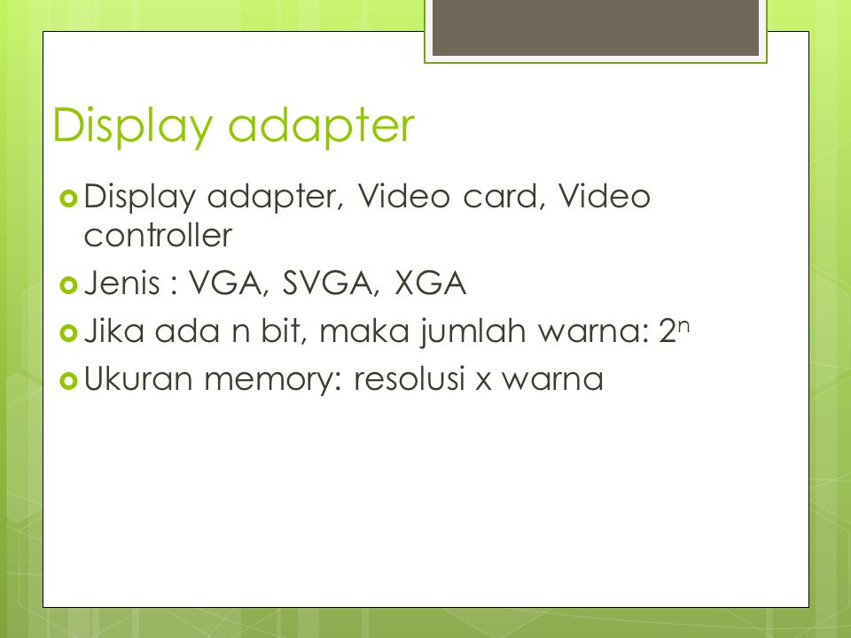Display adapter Display adapter, Video card, Video controller