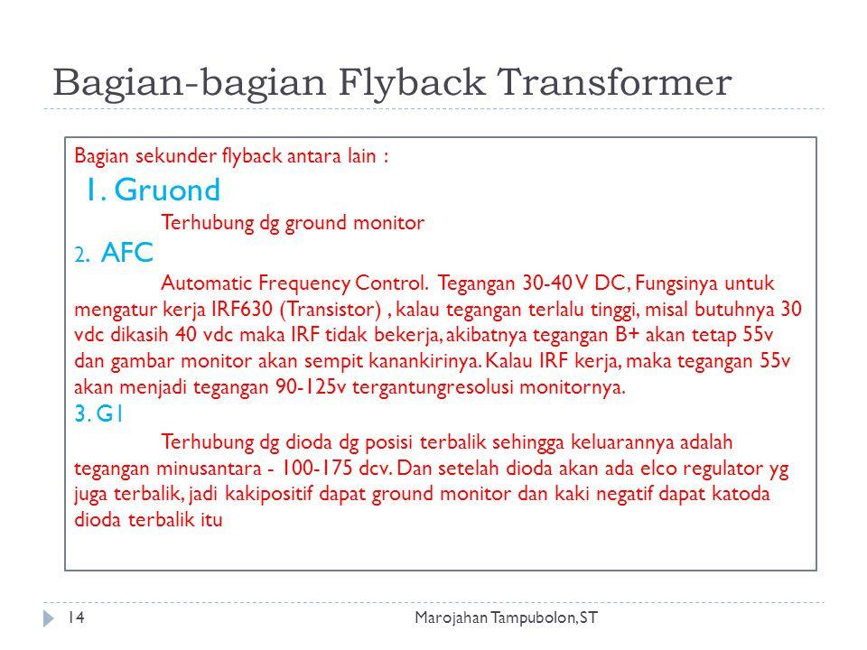Bagian-bagian Flyback Transformer