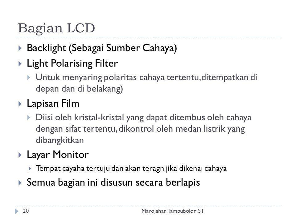Bagian LCD Backlight (Sebagai Sumber Cahaya) Light Polarising Filter