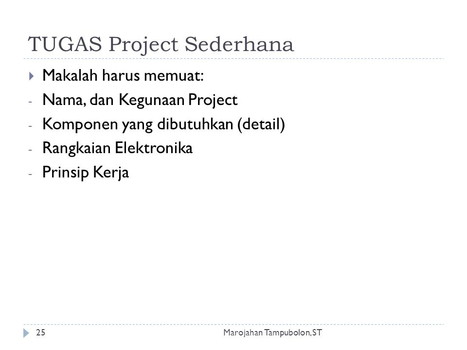 TUGAS Project Sederhana