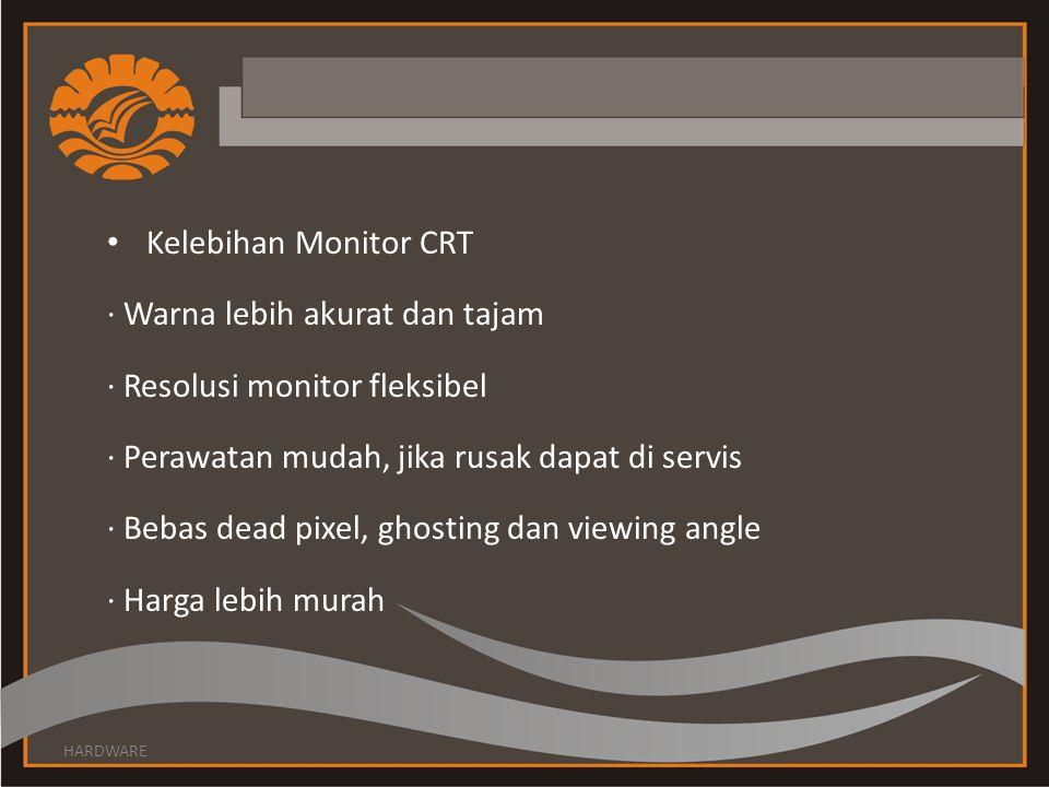 · Warna lebih akurat dan tajam · Resolusi monitor fleksibel