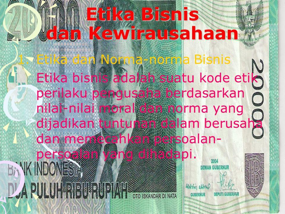 Etika Bisnis dan Kewirausahaan