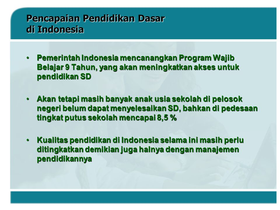 Pencapaian Pendidikan Dasar di Indonesia
