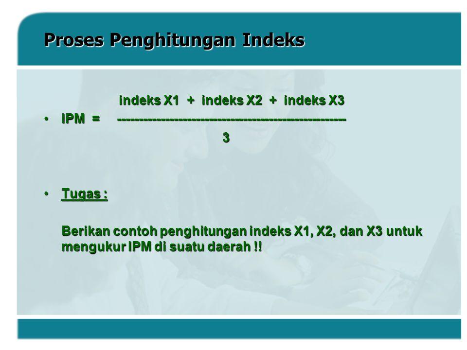 Proses Penghitungan Indeks