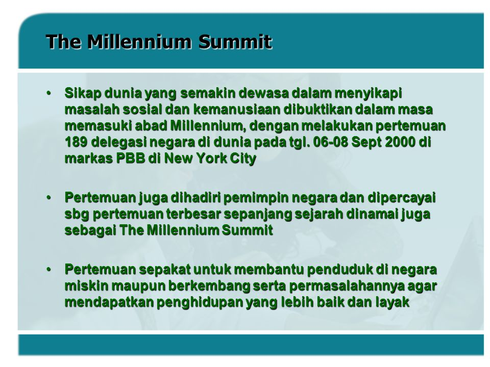 The Millennium Summit