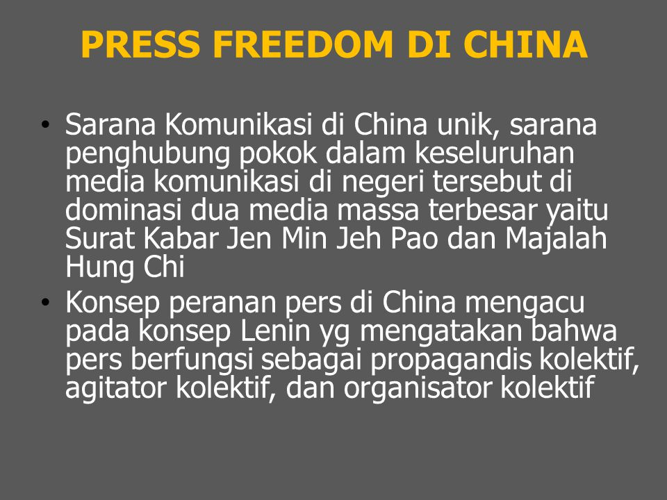 PRESS FREEDOM DI CHINA