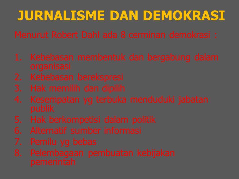 JURNALISME DAN DEMOKRASI