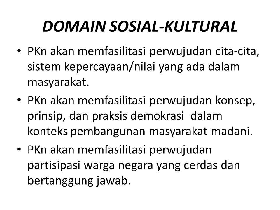 DOMAIN SOSIAL-KULTURAL