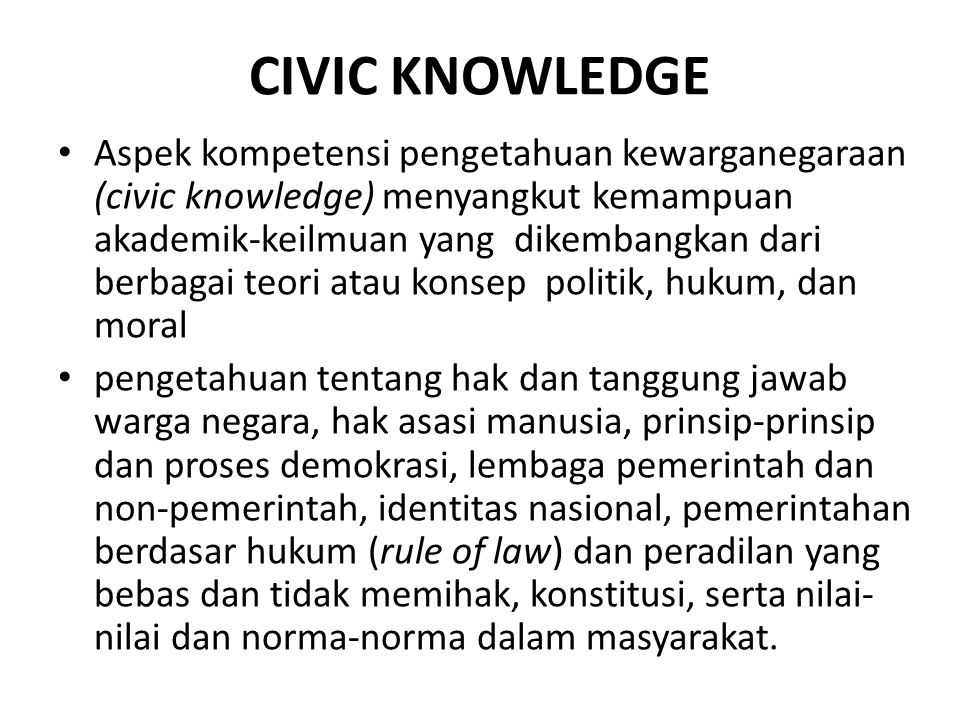 CIVIC KNOWLEDGE