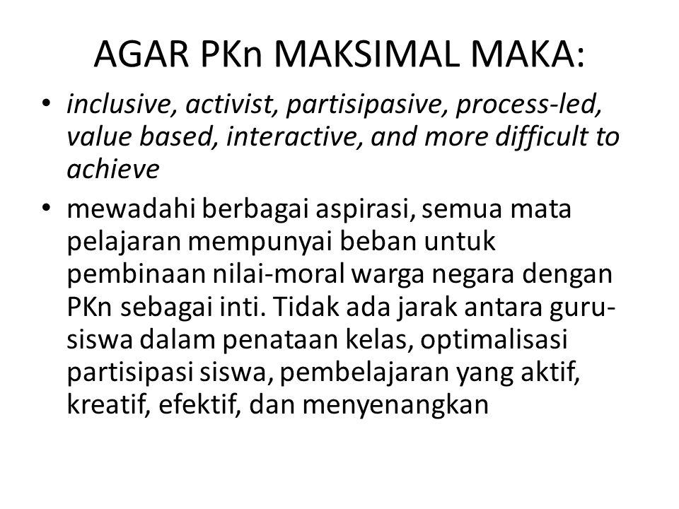 AGAR PKn MAKSIMAL MAKA: