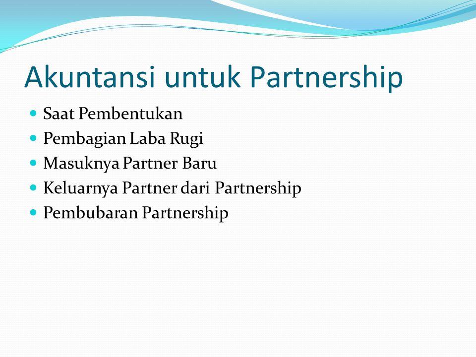 Akuntansi untuk Partnership
