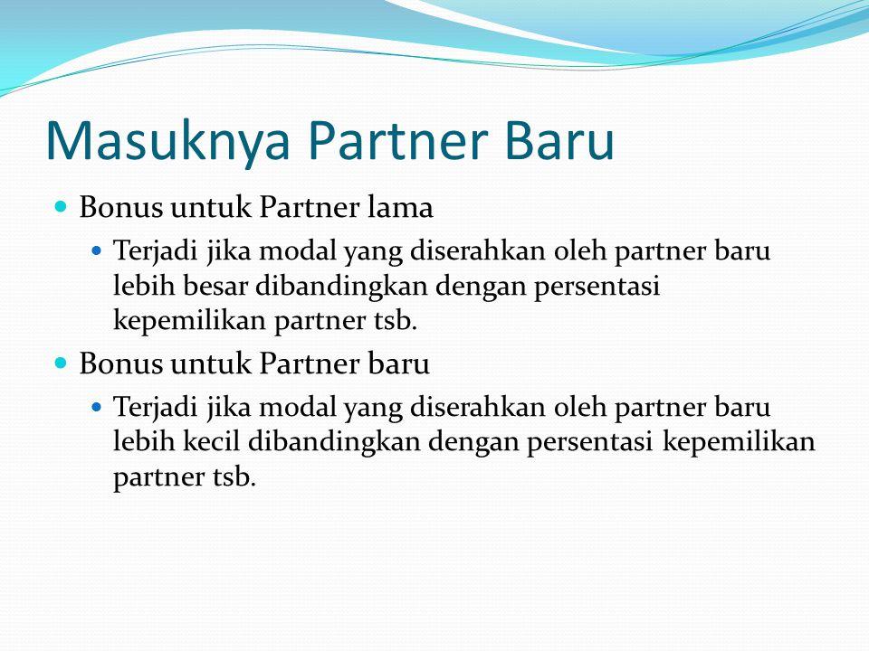 Masuknya Partner Baru Bonus untuk Partner lama