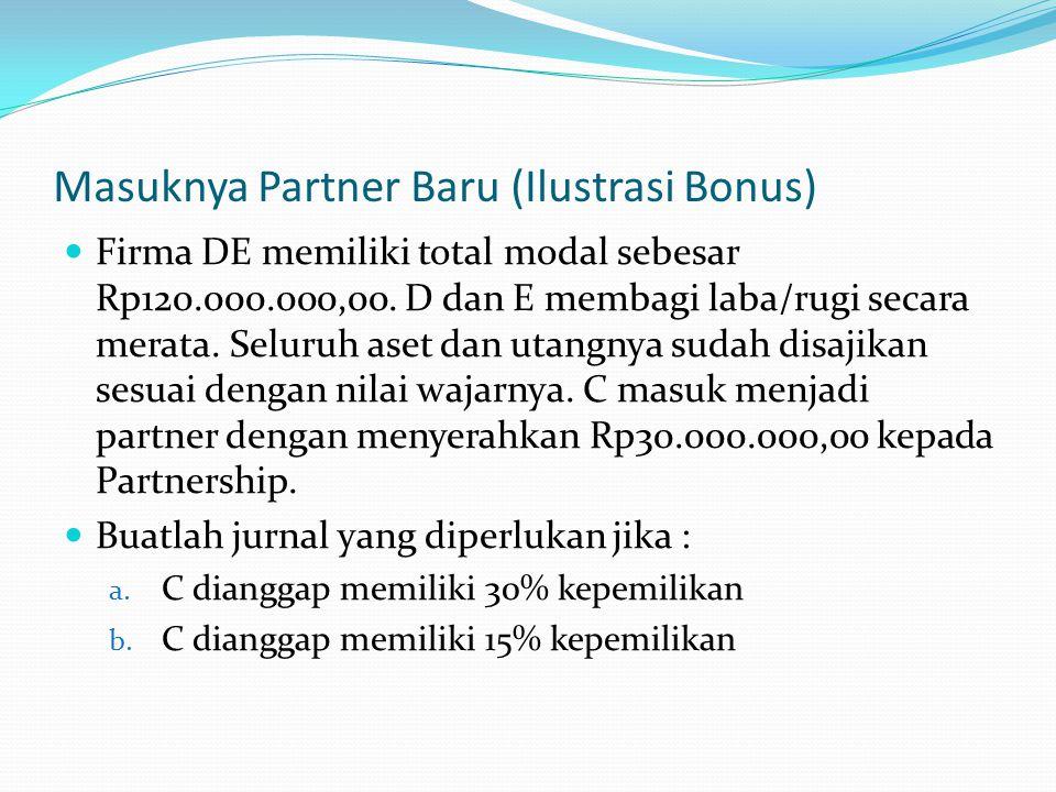 Masuknya Partner Baru (Ilustrasi Bonus)