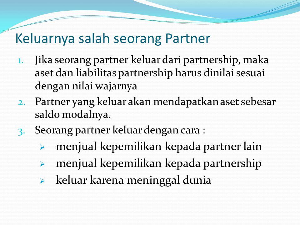 Keluarnya salah seorang Partner