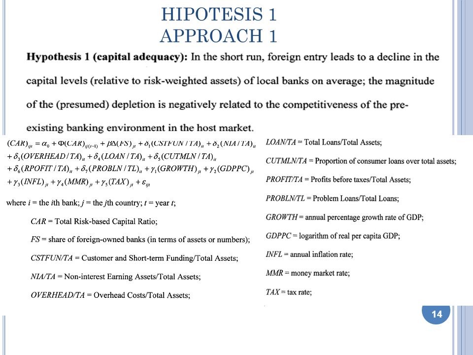 HIPOTESIS 1 APPROACH 1