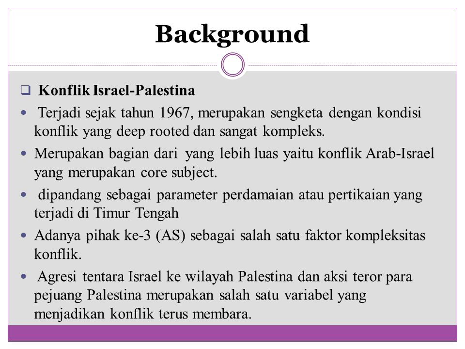 Background Konflik Israel-Palestina