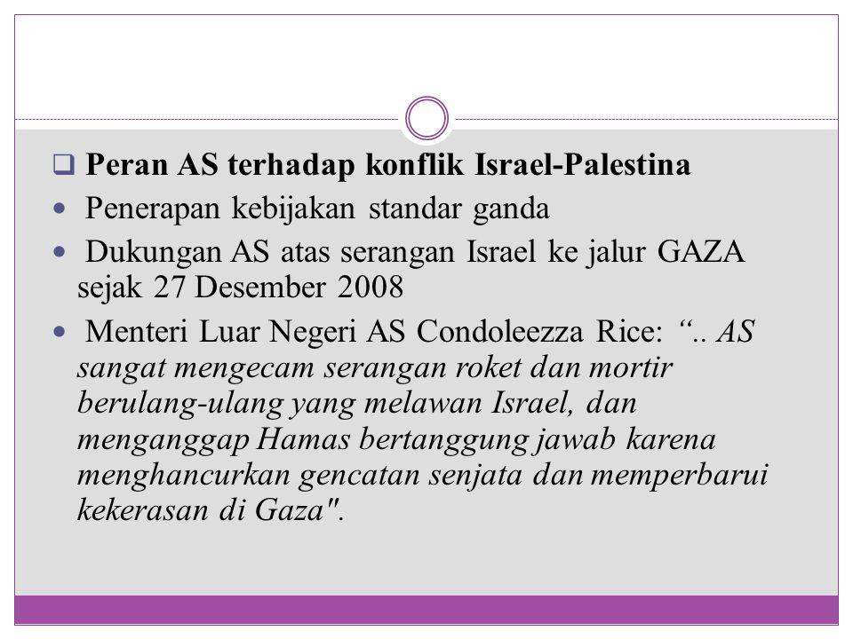 Peran AS terhadap konflik Israel-Palestina