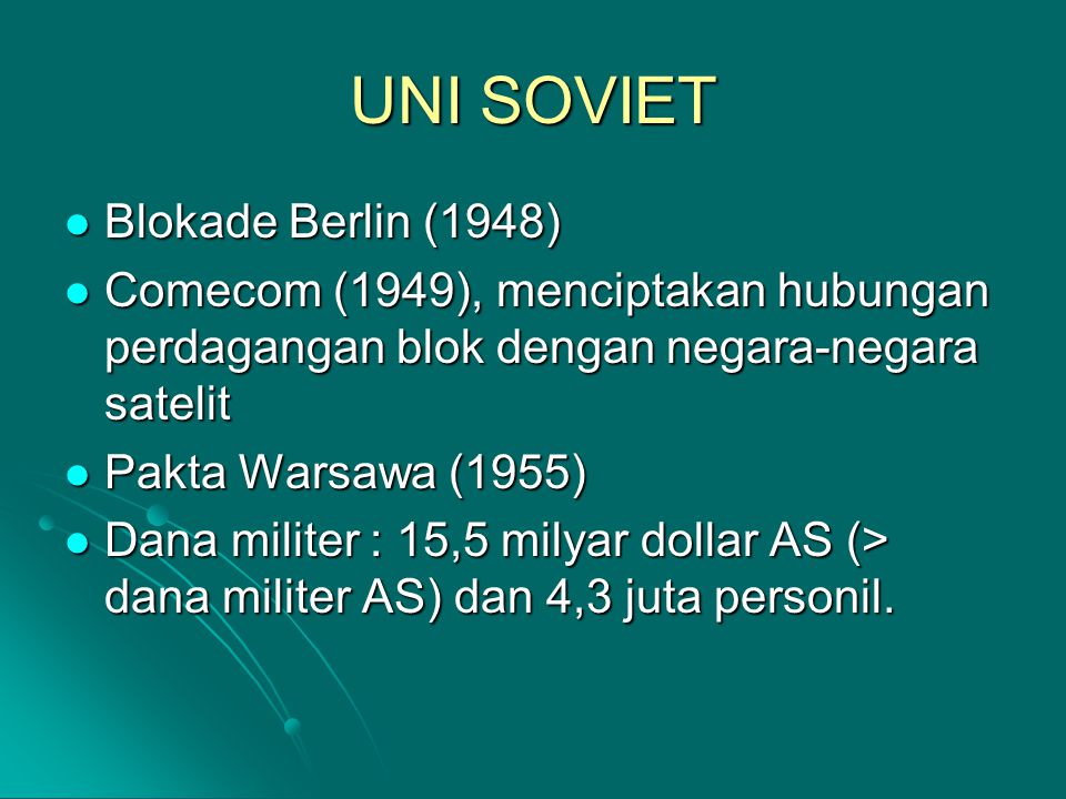 UNI SOVIET Blokade Berlin (1948)