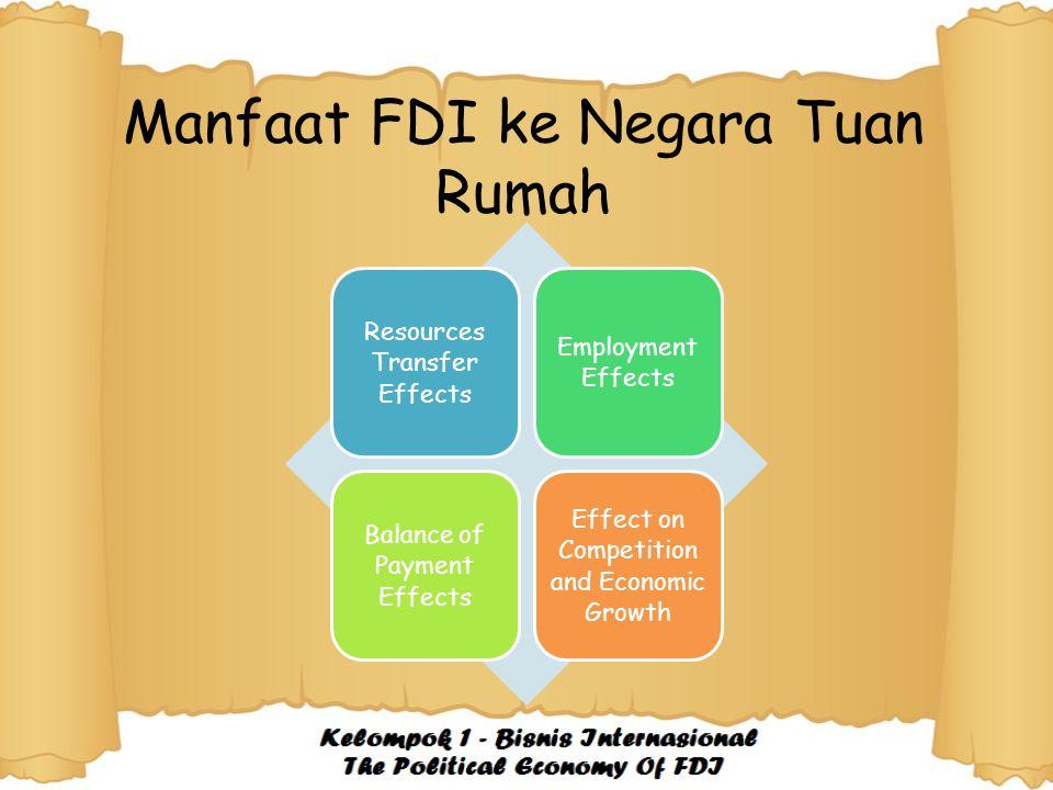 Manfaat FDI ke Negara Tuan Rumah