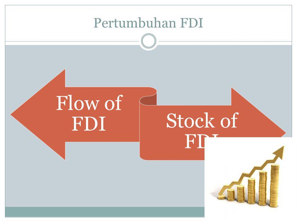 Pertumbuhan FDI Flow of FDI Stock of FDI