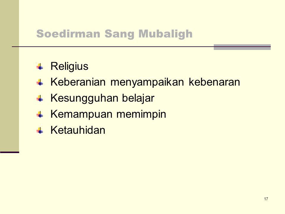 Soedirman Sang Mubaligh