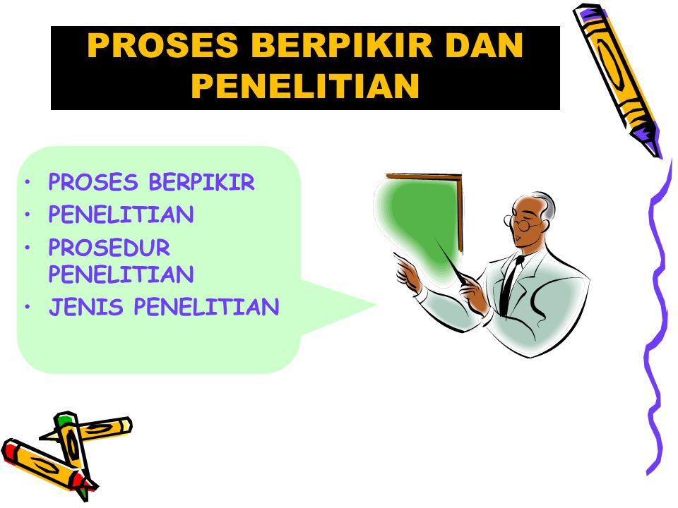PROSES BERPIKIR DAN PENELITIAN